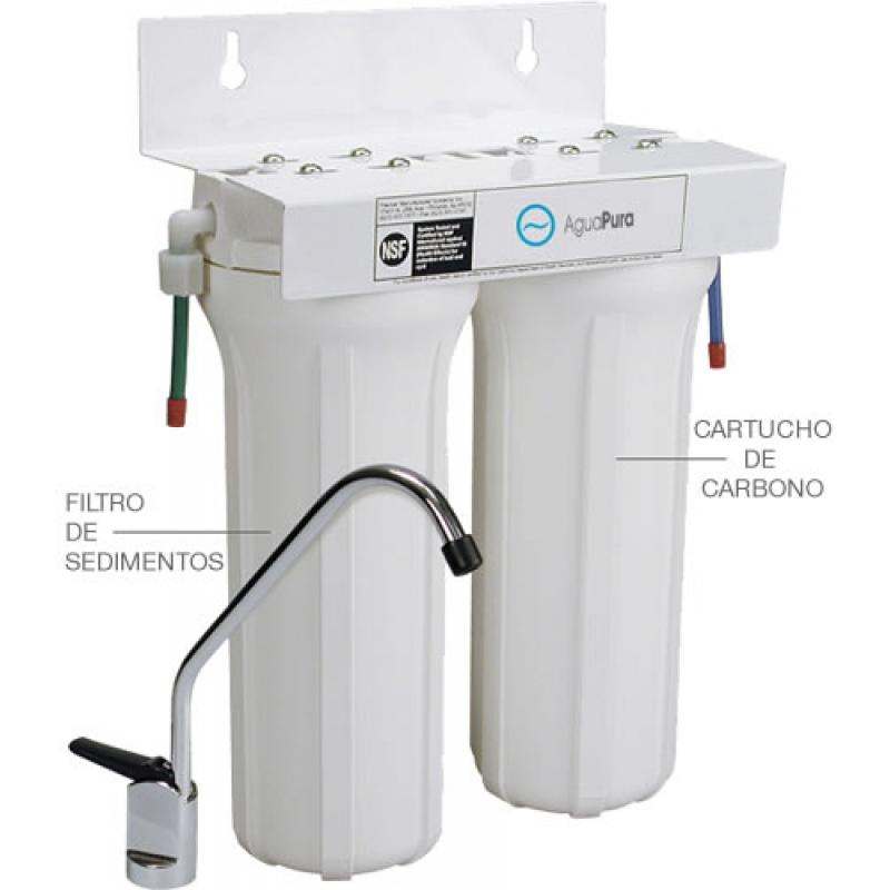 Filtro de agua de 2 etapas descalcificador purificador - Precios descalcificadores domesticos ...